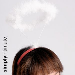 Pop Angel headband with marabou fur trim halo