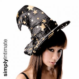 Mystical Wizard's hat with buckle accent