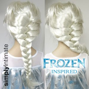 Frozen Inspired Junior Elsa icy blonde braided wig