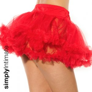 Pettiskirt with ruffle trim tulle