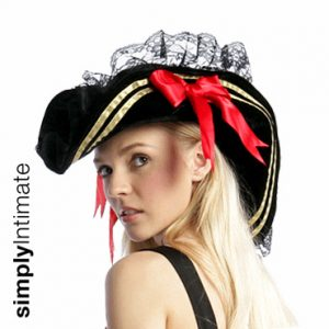 Pirate velvet swashbuckler hat