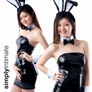 Deluxe Playgirl Bunny hi-gloss tube dress set