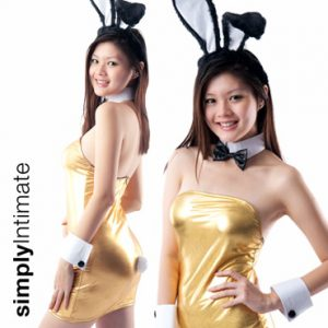 Deluxe Playgirl Bunny metallic tube dress set