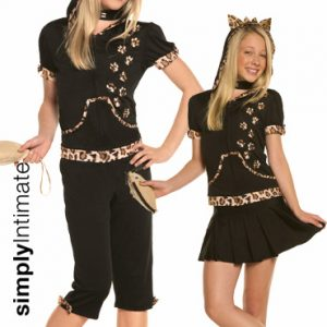 Junior Flirty Feline crop top with hoodie 2-in-1 set