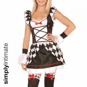 Junior Haute Harlequin satin dress with contrast diamond print set