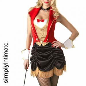 Circus Ring Hottie vested top with fringed skirt set