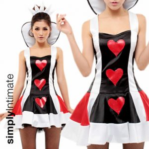 Be Charmed Queen of Hearts puffy satin dress set