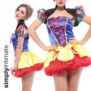 Snow White Princess satin bandeau dress with shrug set