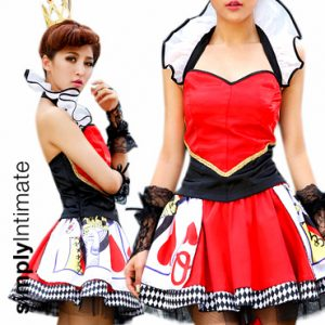 Enchanted Queen of Hearts satin halter top with puffy skirt  (5pc) set