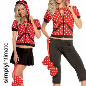 Playhouse Mouse crop top with hoodie 2-in-1 set