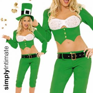 Sassy Leprechaun crop jacket with capris set