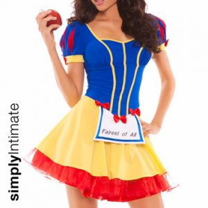 Fairest Of All Snow White mini dress with light-up apron set