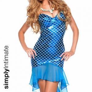 Fantasea Mermaid underwired foil dress with fish tail skirt
