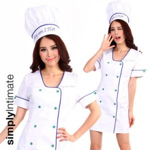 Cookin' Hot double breasted dress with chef hat set