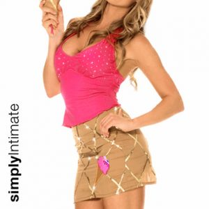 Soft Serve Hottie halter top with mini skirt set