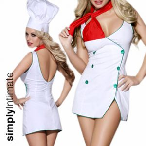 Cookin' Hot mini dress with chef hat & scarf
