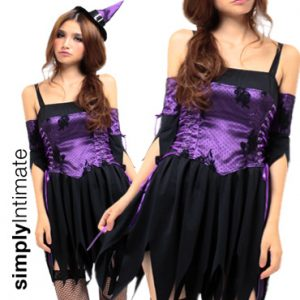 Wickedly Sexy Witch lace-overlay dress set