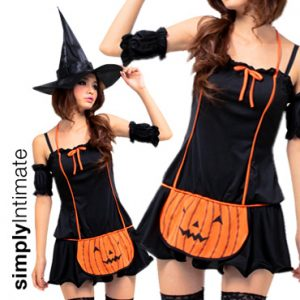 Lil' Pumpkin Witch halter mini dress set