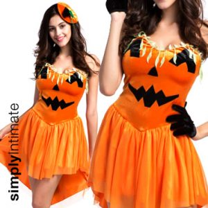 Pumpkin Princess velvet chiffon dress with hairpin & gloves set
