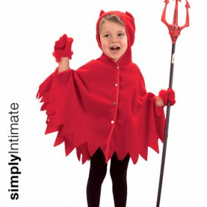 Junior Devilish Lil' Red cape with hoodie & gloves set