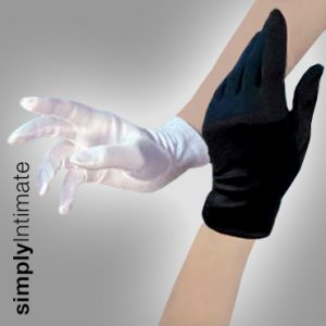 Stretch satin gloves – Short