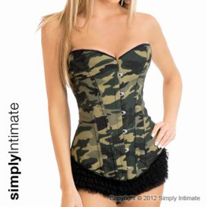 Fitted coutil camo corset