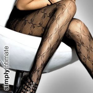 Ribbon net lace panty hose