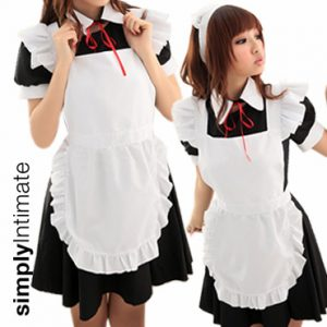 Kawaii Maid dress with apron & collar