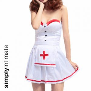 Notti Nurse bustier mini dress with contrast trim
