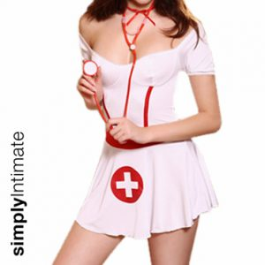 Notti Nurse stretch off shoulder mini dress set