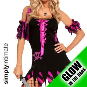 Shipwreck Vixen glow in the dark jagged hem mini dress set