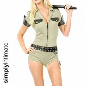 Hottie Sergeant romper with zipper front set