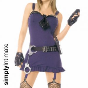 Hottie Sergeant bustier mini dress set with garters