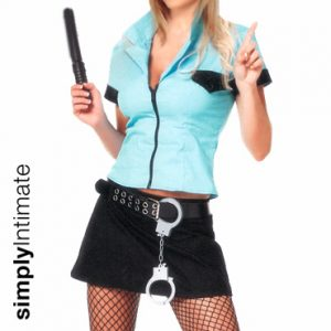 Hottie Sergeant fitted shirt with mini skirt set