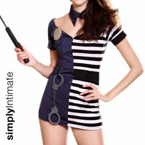 Hottie Sergeant Vs Notti Prisoner mini dress set