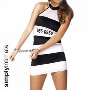 Notti Prisoner halter mini dress with hat