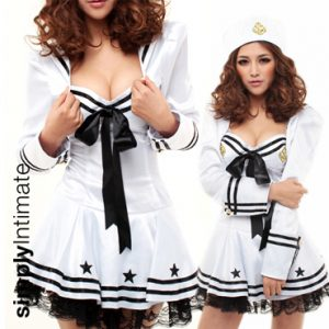Shipmate Cutie satin bustier dress with shrug set