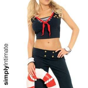 Shipmate Cutie crop top with capris set