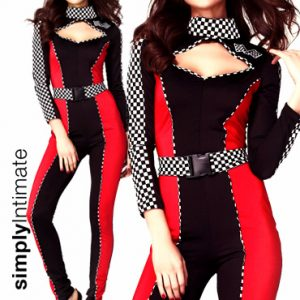 Rav Up Racer jumpsuit with contrast color block