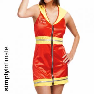 Smokin Hot Fire Fighter halter mini dress with hat