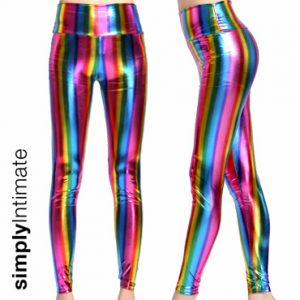 Stretch rainbow hologram leggings