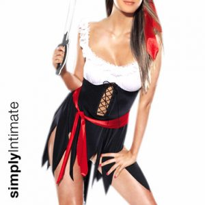 Pirates Booty lace-up mini dress set with stockings