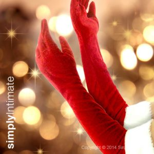 Santarina long plush velvet gloves