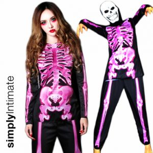Bare Bone Skeleton stretch long sleeve top & pants set