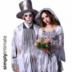 Til Death Do Us Part Ghoul bride & groom costume set