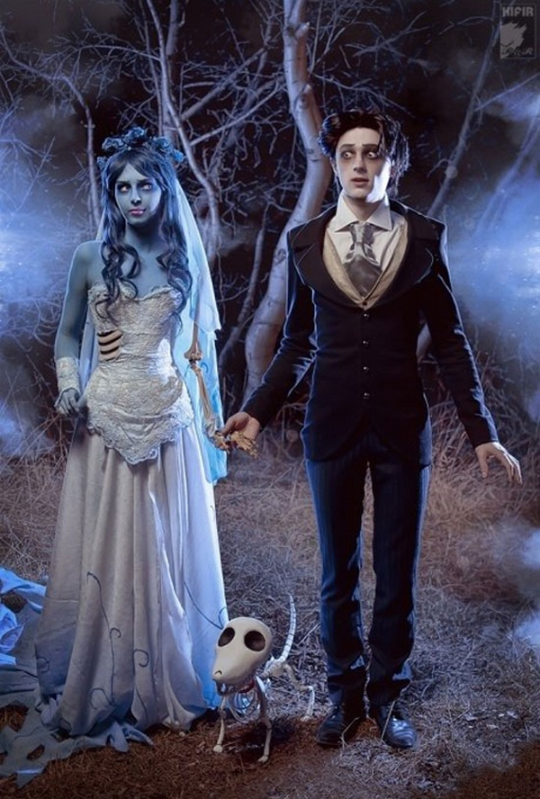 scary-creative-unique-couples-halloween-costumes-ideas-ghost-bride