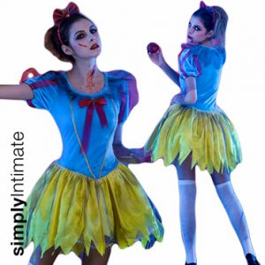 Zombie Snow Princess velvet dress with jagged hem set