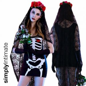 Mistress of The Dead skeleton tank dress set