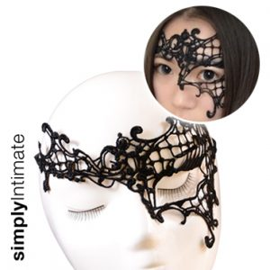 Venice lace applique mask (C)