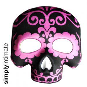 Sugar skull half mask